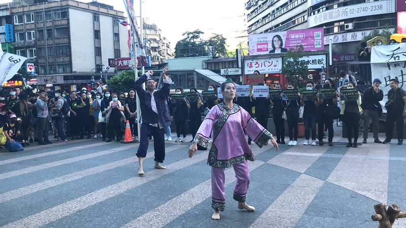 蔡瑞月舞蹈社帶來的「魁壘上陣」表演。圖/陳宏駿攝