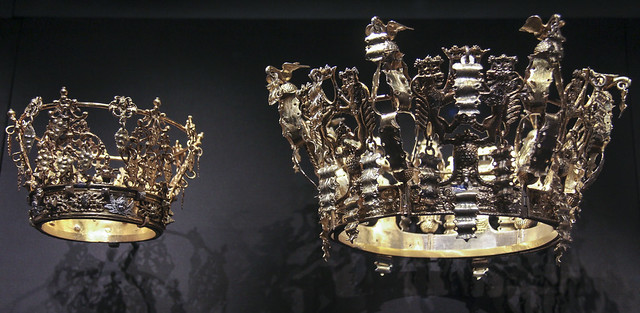 Bridal crown (brudkrona), Sweden, 1750-1870, partially gilded silver
