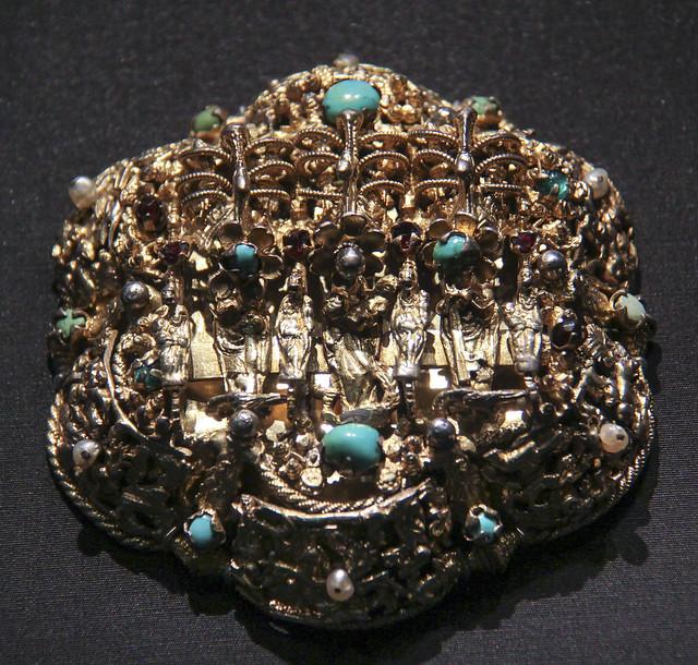Pendant (Heftel), Romania, Transylvania, 1650-1700, gilded silver