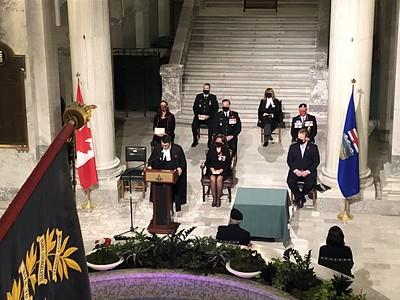2020 First Poppy Ceremony - Alberta