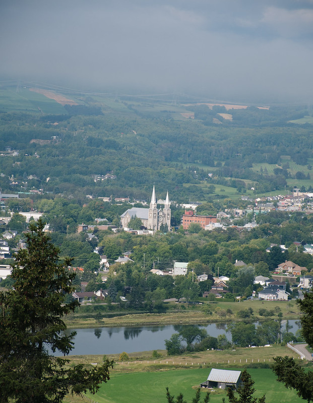 Baie-Saint-Paul, belvédère vue du centre-ville