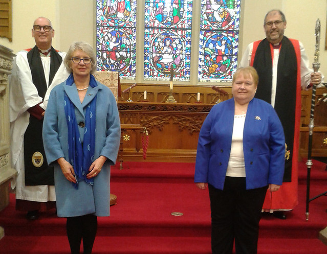 Pictured at the Connor Mothers' Union Service of Thanksgiving on October 25 are, from left: Archdeacon Stephen McBride, Connor MU Chaplain; June Butler, All-Ireland President; Sally Cotter, Connor MU President; and Bishop George Davison.