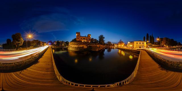 Romano's castle and Sile river - Treviso