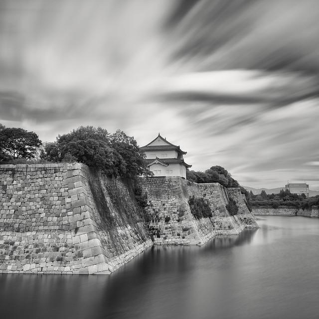 Stone Walls of Osaka Castle