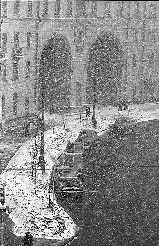 1961. Снег идёт (Ленинский пр., 37)