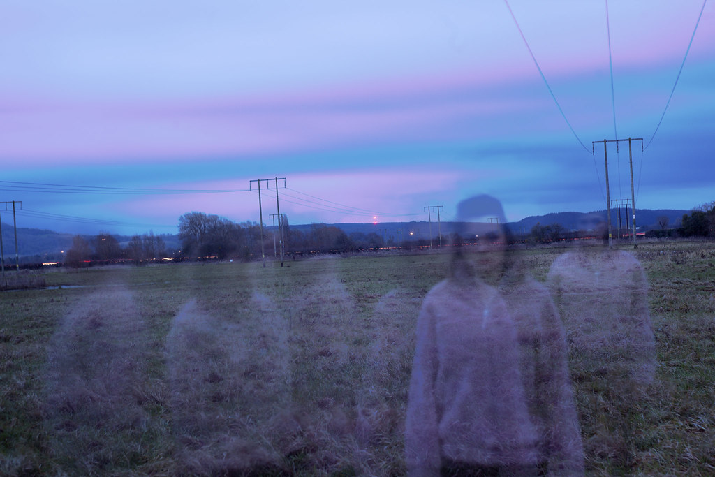Long exposure self portrait in the field I frequented as a teenager before my parents move away