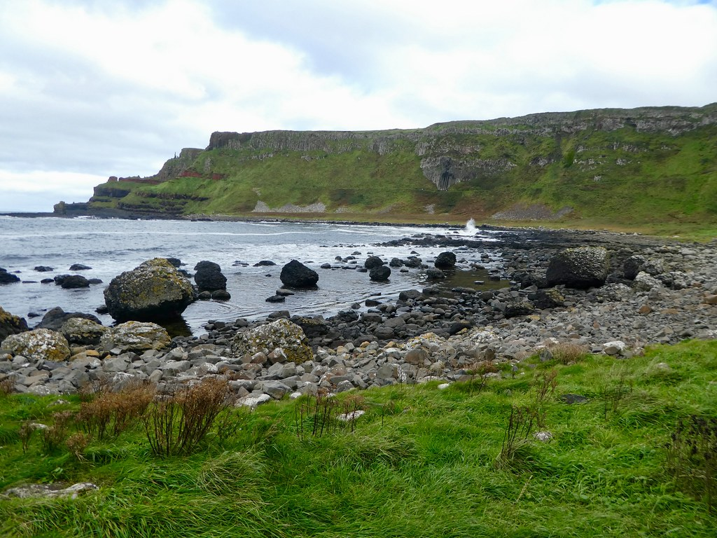 Rocky coastline at the Giant's Causeway