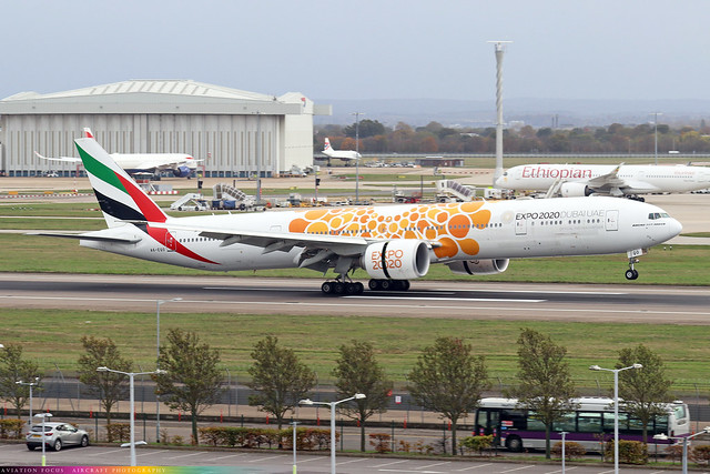 A6-EQO  -  Boeing 777-31H(ER)  -  Emirates Airline  -  LHR/EGLL 28/10/20