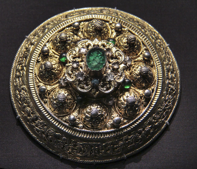 Pendant (Heftel), Romania, Transylvania, probably 1650-1700, gilded silver