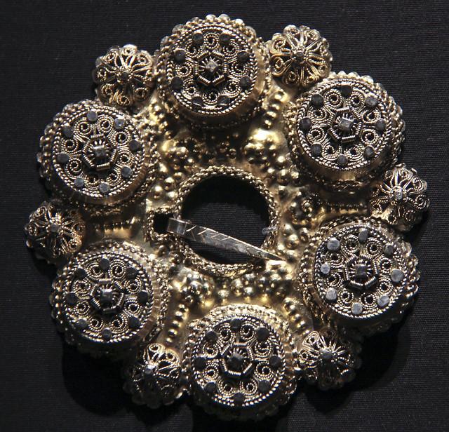 Brooch, 1750-1800, gilded silver