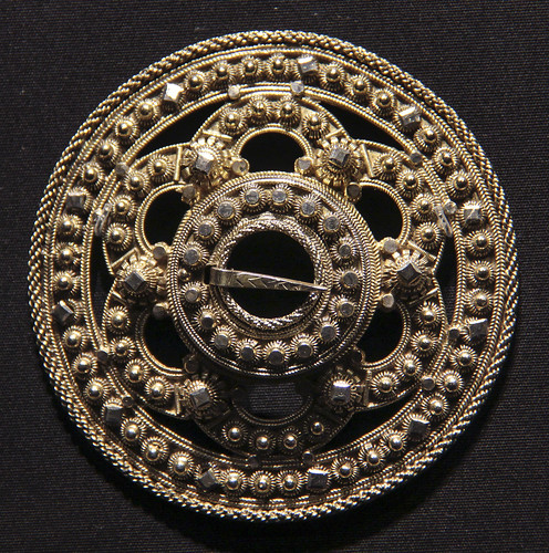Brooch, Norway, Lunde, about 1850, made by Tor Grinderud, gilded silver