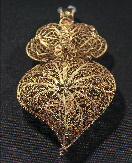 Pendant, Portugal, Oporto, about 1860, Gold filigree