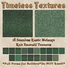 TT 18 Seamless Rustic Melange Knit Emerald Timeless Textures