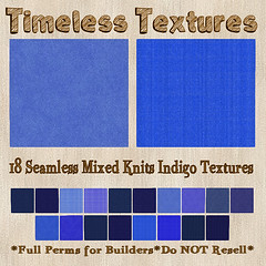 TT 18 Seamless Mixed Knits Indigo Timeless Textures