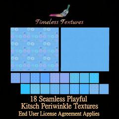 TT 18 Seamless Playful Kitsch Periwinkle Timeless Textures