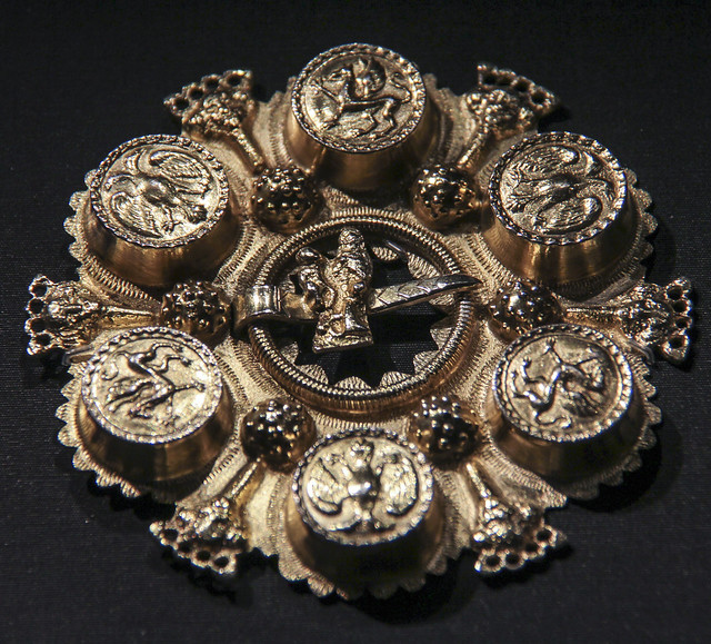 Brooch, Norway, probably 1750-1800, gilded silver