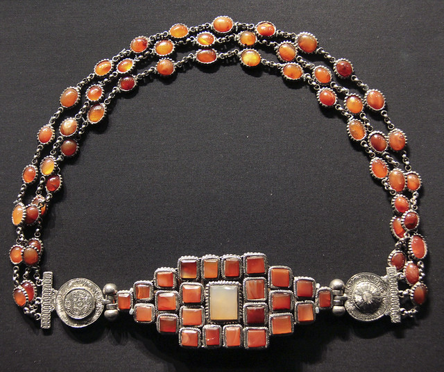 Woman's belt, Croatia, 1850-1900, Silver and carnelian