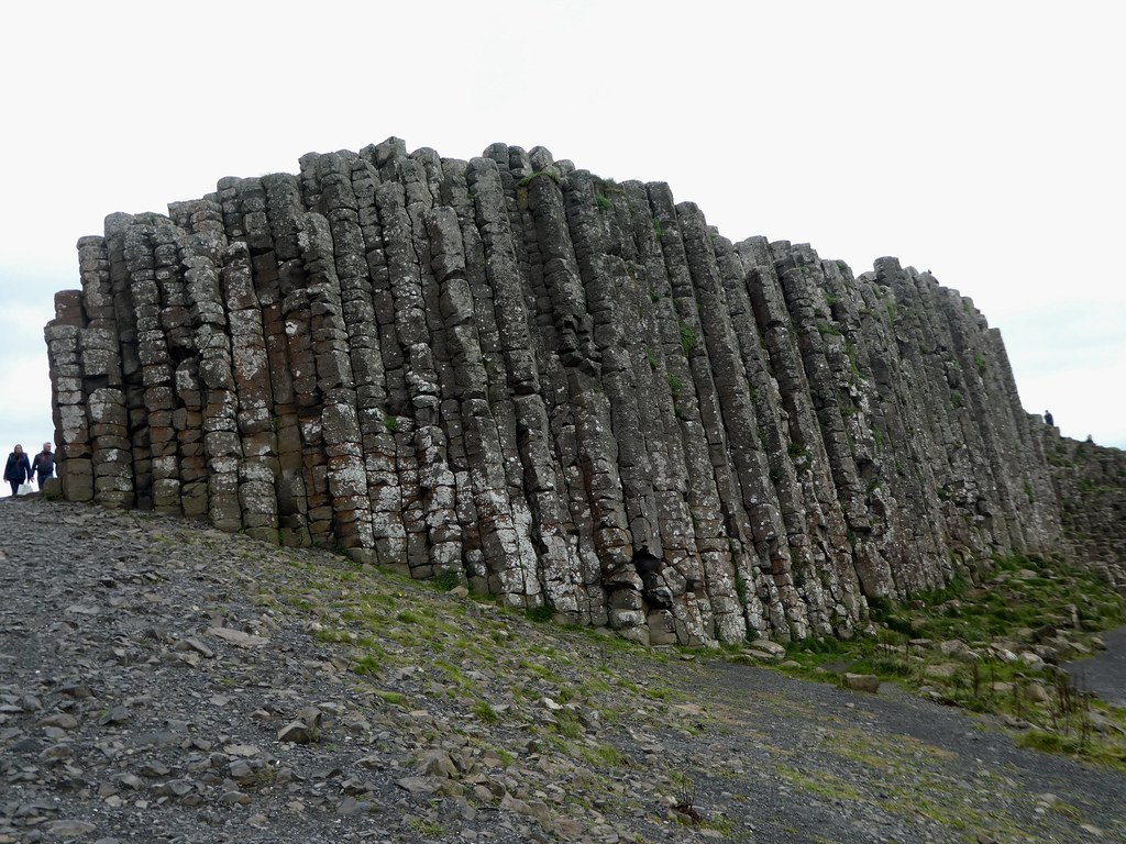 Stacks of basalt columns at the Giant's Causeway