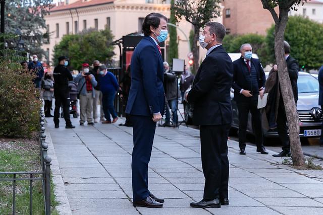 Reunión de coordinación en la lucha contra la pandemia con el presidente de Castilla y León y la presidenta de la Comunidad de Madrid