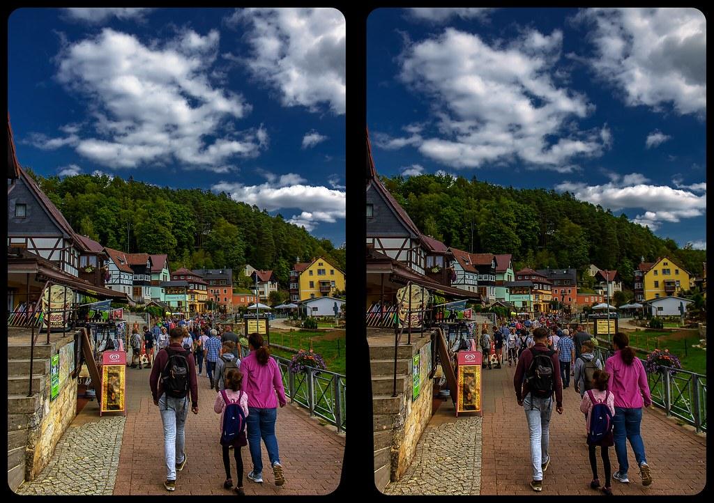 Rathen in summer 3-D / CrossView / Stereoscopy