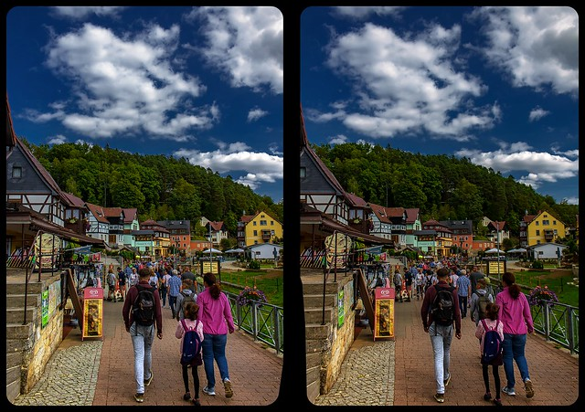 Rathen in summer 3-D / CrossView / Stereoscopy