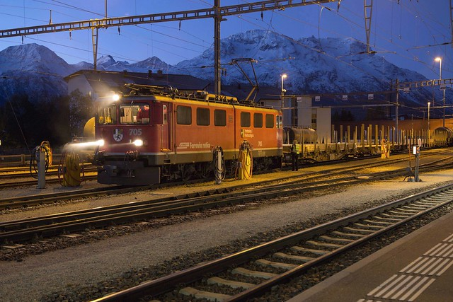 Rhätische Bahn Ge 6/6 II 705 Samedan