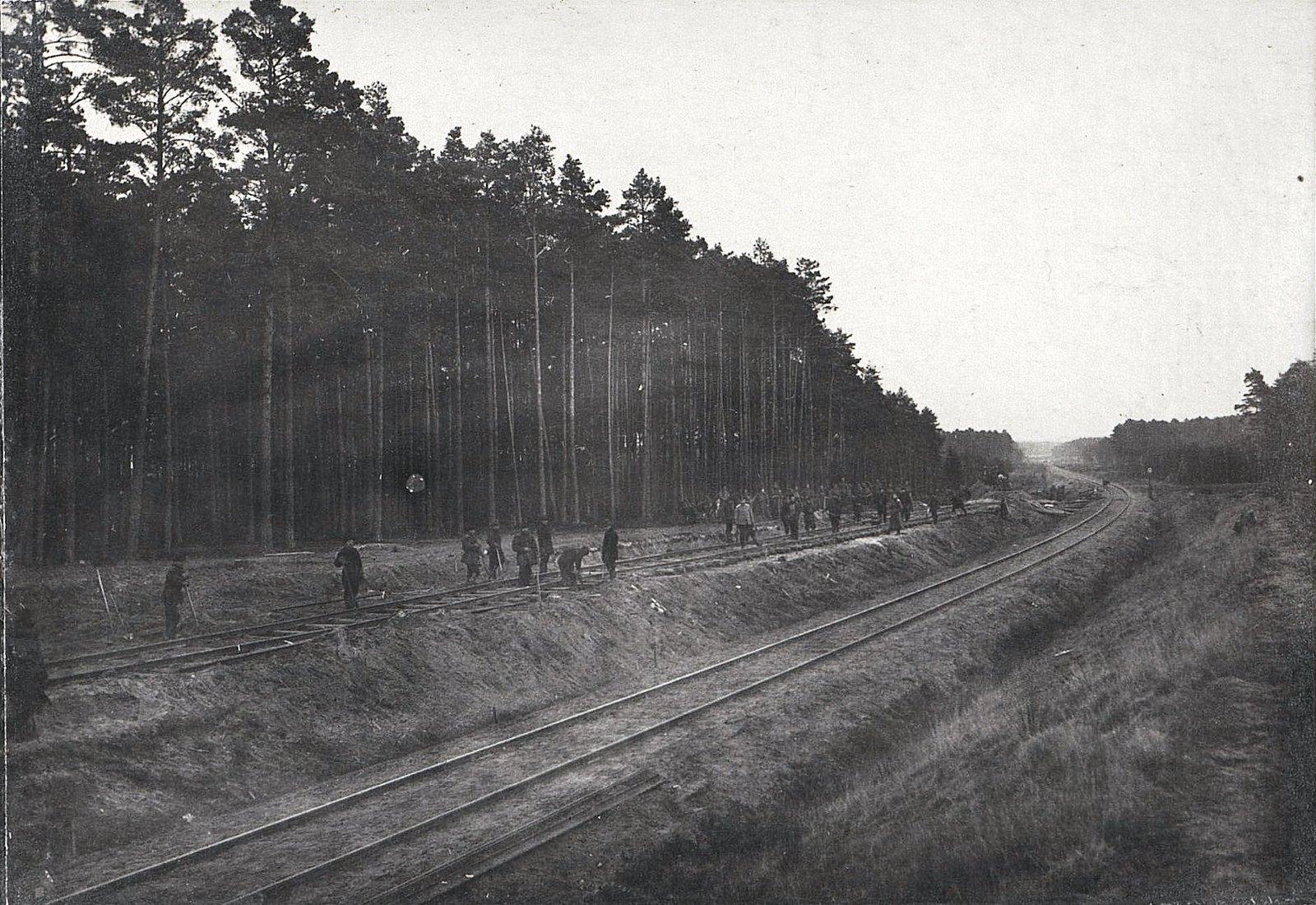 32. Укладка тупика на станции Влощова 3-й ротой