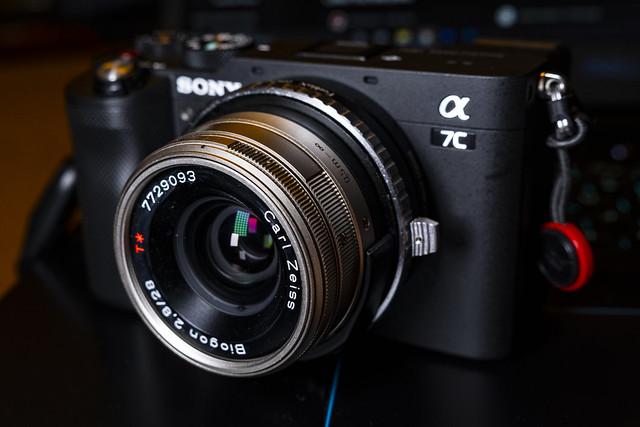 Sony A7c w/ Contax G Zeiss 28mm f/2.8
