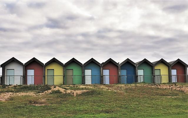 Ten Little Beach Huts All In a Row