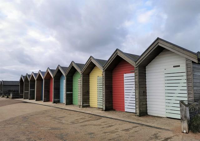 Blyth Beach Hut Line Up