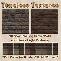 TT 20 Seamless Log Cabin Walls and Floors Light Timeless Textures