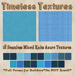 TT 18 Seamless Mixed Knits Azure Timeless Textures