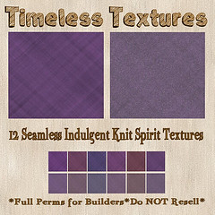 TT 12 Seamless Indulgent Knit Spirit Timeless Textures