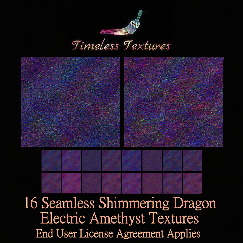 TT 16 Seamless Shimmering Dragon Electric Amethyst Timeless Textur