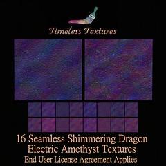 TT 16 Seamless Shimmering Dragon Electric Amethyst Timeless Textur