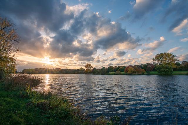 Aasee Münster - Sonnenuntergang im Herbst