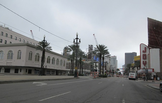 Canal Street and Hard Rock Hotel Disaster Site