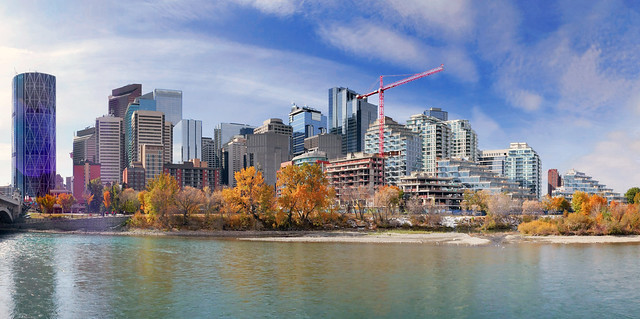 Calgary and the Bow river.