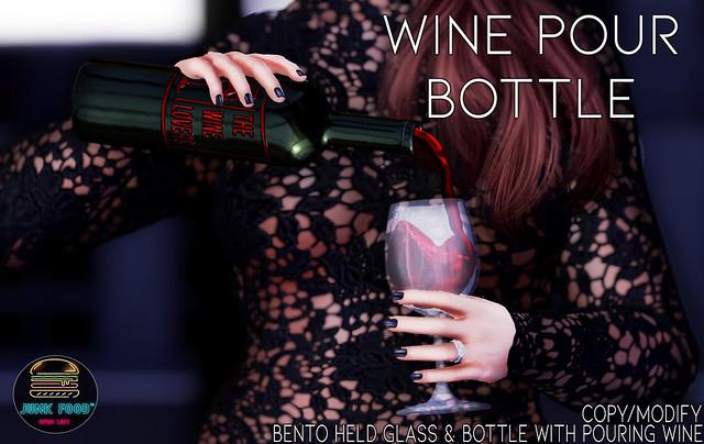 Junk Food - Wine Pour Bottle Ad