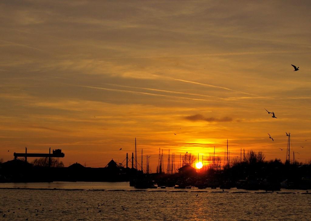 Sunset Scene at Preston Docks