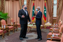 Secretary Pompeo Meets with Maldivian President Ibrahim Mohamed Solih in Malé