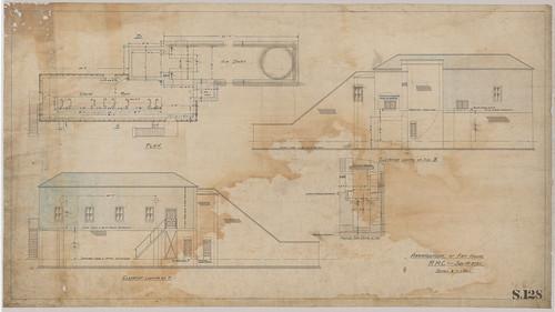 Arrangement of fan house, Richmond Main Colliery, Kurri Kurri, NSW