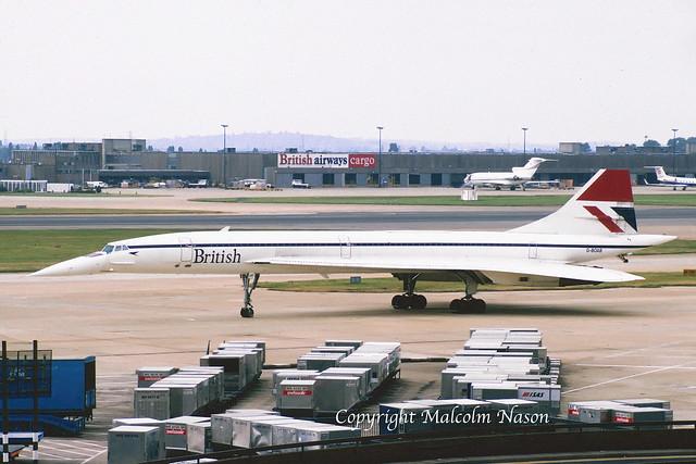 CONCORDE G-BOAB BRITISH Airways