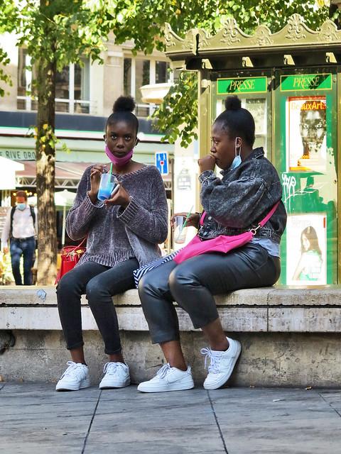 Black girls drinking grenadine