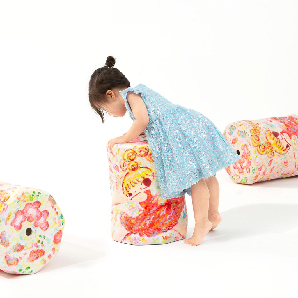AllRightsReserved x ⽇本當代藝術家六⾓彩⼦「Ceramic stool」限量陶藝創作!DDT Store開放全球抽籤