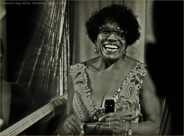 Dee Dee Bridgewater was happy. Markham Jazz Festival, Aug 2018.