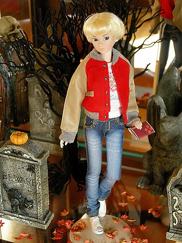 Georgette, who is a Lovely Folklore Momoko doll