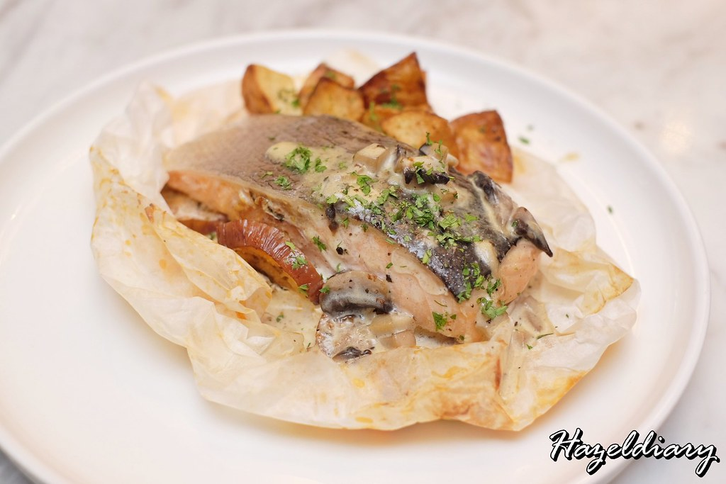 Salmon En Papillote with Wild Mushroom Veloute-Se7enth Oakwood Premier ATMD Singapore