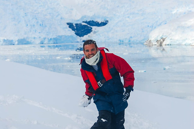 Isaac (Chavetas) en la Antártida