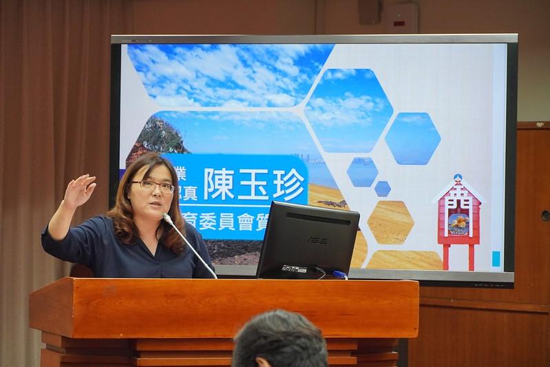 今年九月底,陳玉珍要求教育部明定金門話的保存制度。圖/陳玉珍辦公室提供